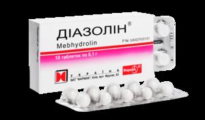 Диазолин - традиционное средство от аллергии