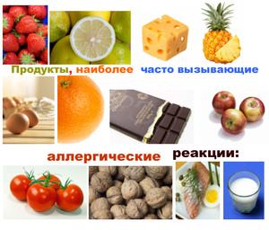 Какие продукты могут вызвать аллергическую реакцию?